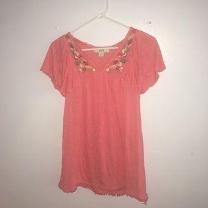 Vintage America pretty pink blouse